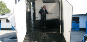 All our horseboxes are powerwashed and disinfected after every journey to ensure the highest standard of hygiene maintained at all times